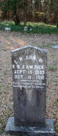 RICKS, E H - Lincoln County, Arkansas   E H RICKS - Arkansas Gravestone Photos
