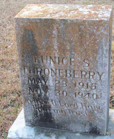 THRONEBERRY, EUNICE S - Lincoln County, Arkansas   EUNICE S THRONEBERRY - Arkansas Gravestone Photos