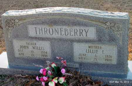 WHITE THORNEBERRY, LILLIE ELGIN - Lincoln County, Arkansas | LILLIE ELGIN WHITE THORNEBERRY - Arkansas Gravestone Photos