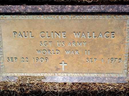 WALLACE (VETERAN WWII), PAUL CLINE - Lincoln County, Arkansas | PAUL CLINE WALLACE (VETERAN WWII) - Arkansas Gravestone Photos
