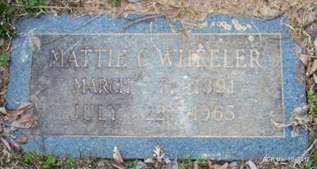 WHEELER, MATTIE C - Lincoln County, Arkansas   MATTIE C WHEELER - Arkansas Gravestone Photos