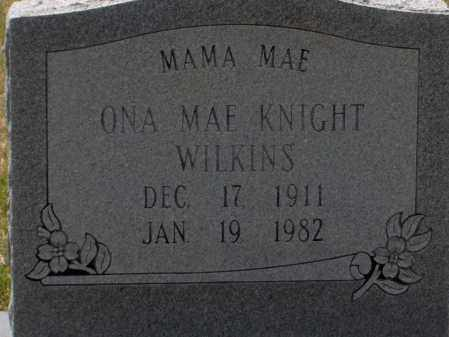 KNIGHT WILKINS, ONA MAE - Lincoln County, Arkansas | ONA MAE KNIGHT WILKINS - Arkansas Gravestone Photos
