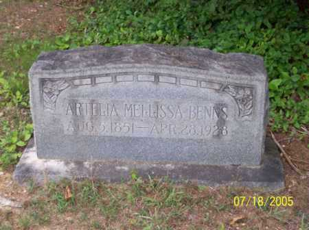 HARRISON BENNS, ARTELIA MELLISSA - Little River County, Arkansas | ARTELIA MELLISSA HARRISON BENNS - Arkansas Gravestone Photos