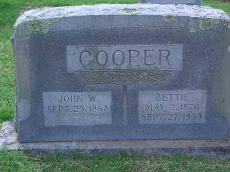 COOPER, BETTIE - Little River County, Arkansas | BETTIE COOPER - Arkansas Gravestone Photos