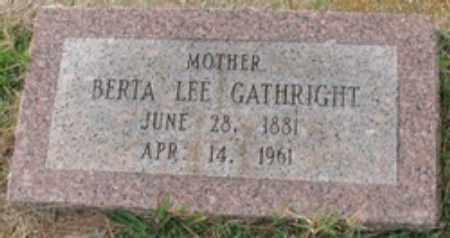 MORRIS GATHRIGHT, BERTA LEE - Little River County, Arkansas | BERTA LEE MORRIS GATHRIGHT - Arkansas Gravestone Photos