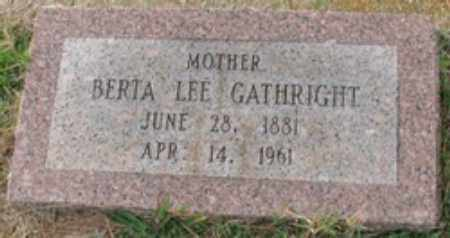 GATHRIGHT, BERTA LEE - Little River County, Arkansas | BERTA LEE GATHRIGHT - Arkansas Gravestone Photos