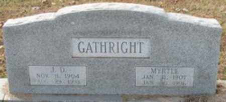 GATHRIGHT, MYRTLE - Little River County, Arkansas | MYRTLE GATHRIGHT - Arkansas Gravestone Photos