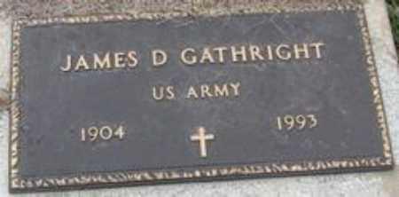 GATHRIGHT  (VETERAN), JAMES DORSEY - Little River County, Arkansas | JAMES DORSEY GATHRIGHT  (VETERAN) - Arkansas Gravestone Photos