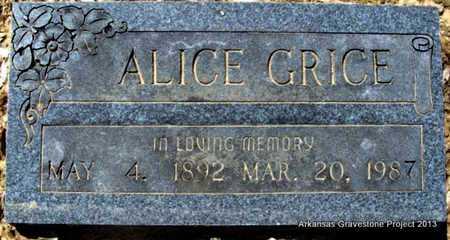 GRICE, ALICE - Little River County, Arkansas | ALICE GRICE - Arkansas Gravestone Photos