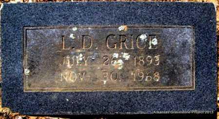 GRICE, L D - Little River County, Arkansas   L D GRICE - Arkansas Gravestone Photos