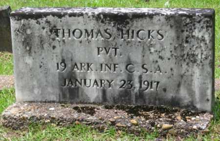 HICKS (VETERAN CSA), THOMAS - Little River County, Arkansas | THOMAS HICKS (VETERAN CSA) - Arkansas Gravestone Photos