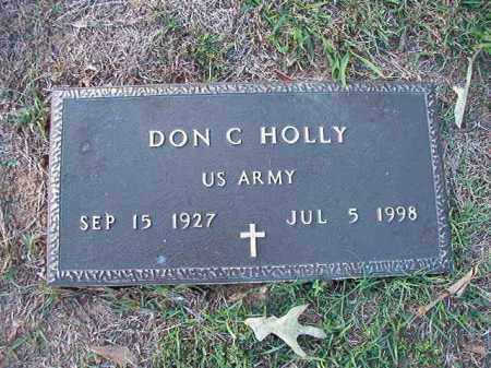 HOLLY (VETERAN), DON C - Little River County, Arkansas | DON C HOLLY (VETERAN) - Arkansas Gravestone Photos