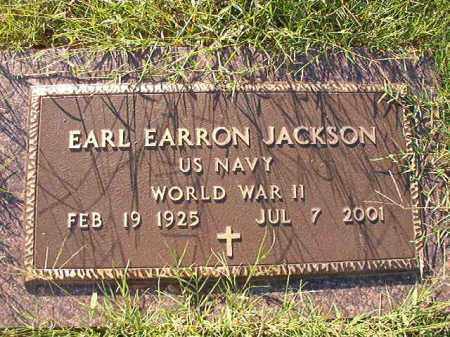 JACKSON (VETERAN WWII), EARL EARRON - Little River County, Arkansas   EARL EARRON JACKSON (VETERAN WWII) - Arkansas Gravestone Photos