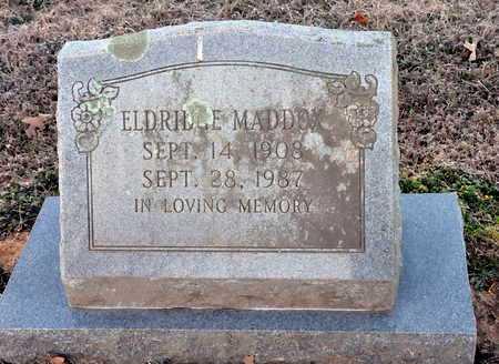 MADDOX, ELDRIDGE - Little River County, Arkansas | ELDRIDGE MADDOX - Arkansas Gravestone Photos