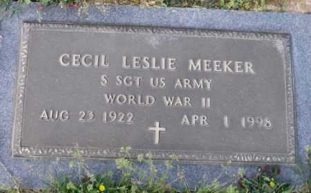 MEEKER (VETERAN WWII), CECIL LESLIE - Little River County, Arkansas | CECIL LESLIE MEEKER (VETERAN WWII) - Arkansas Gravestone Photos