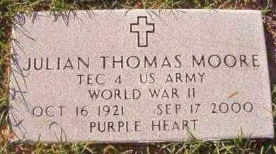 MOORE (VETERAN WWII), JULIAN THOMAS - Little River County, Arkansas | JULIAN THOMAS MOORE (VETERAN WWII) - Arkansas Gravestone Photos