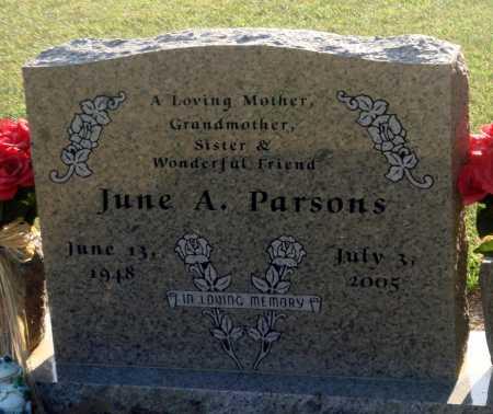 PARSONS, JUNE A - Little River County, Arkansas | JUNE A PARSONS - Arkansas Gravestone Photos