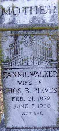 WALKER RIEVES, MARY FRANCES - Little River County, Arkansas | MARY FRANCES WALKER RIEVES - Arkansas Gravestone Photos