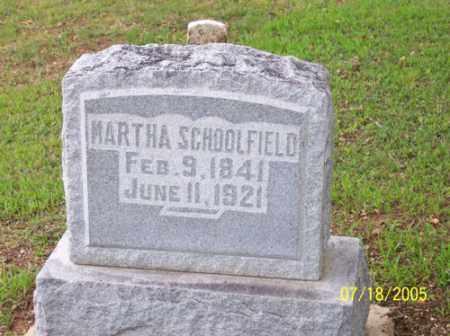 SCHOOLFIELD, MARTHA - Little River County, Arkansas | MARTHA SCHOOLFIELD - Arkansas Gravestone Photos