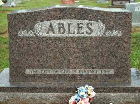 "ABLES, J W ""JIM"" - Logan County, Arkansas 