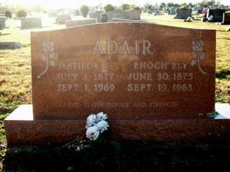 ADAIR, MATILDA E - Logan County, Arkansas | MATILDA E ADAIR - Arkansas Gravestone Photos