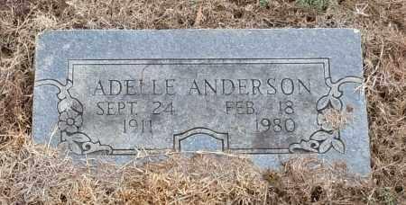ANDERSON, ADELLE - Logan County, Arkansas | ADELLE ANDERSON - Arkansas Gravestone Photos