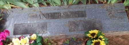 ANDERSON, BUREL J - Logan County, Arkansas   BUREL J ANDERSON - Arkansas Gravestone Photos