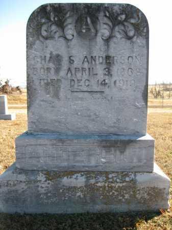 ANDERSON, CHAS S - Logan County, Arkansas | CHAS S ANDERSON - Arkansas Gravestone Photos