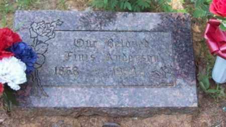 ANDERSON, FINIS - Logan County, Arkansas | FINIS ANDERSON - Arkansas Gravestone Photos