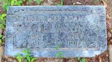 WAY ANDERSON, LILLIE - Logan County, Arkansas | LILLIE WAY ANDERSON - Arkansas Gravestone Photos