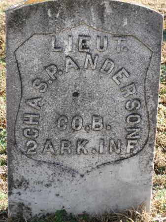 ANDERSON (VETERAN UNION), CHAS  P - Logan County, Arkansas | CHAS  P ANDERSON (VETERAN UNION) - Arkansas Gravestone Photos