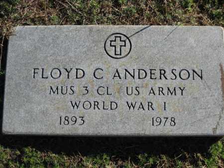 ANDERSON (VETERAN WWI), FLOYD C - Logan County, Arkansas   FLOYD C ANDERSON (VETERAN WWI) - Arkansas Gravestone Photos