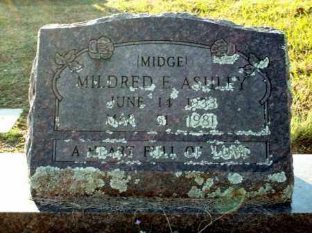"ASHLEY, MILDRED E. ""MIDGE"" - Logan County, Arkansas 