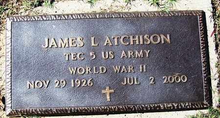 ATCHISON (VETERAN WWII), JAMES L - Logan County, Arkansas   JAMES L ATCHISON (VETERAN WWII) - Arkansas Gravestone Photos