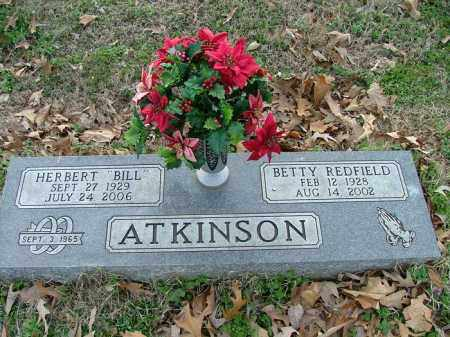 YATES ATKINSON, BETTY REDFIELD - Logan County, Arkansas   BETTY REDFIELD YATES ATKINSON - Arkansas Gravestone Photos