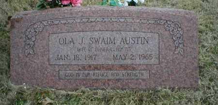 SWAIM AUSTIN, OLA J - Logan County, Arkansas | OLA J SWAIM AUSTIN - Arkansas Gravestone Photos