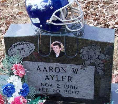 AYLER, AARON W. - Logan County, Arkansas   AARON W. AYLER - Arkansas Gravestone Photos