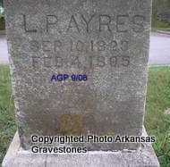 AYRES, L P - Logan County, Arkansas | L P AYRES - Arkansas Gravestone Photos