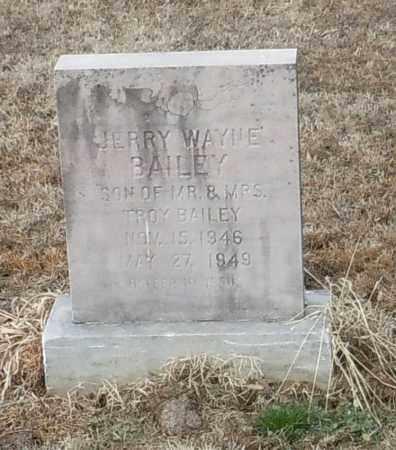 BAILEY, JERRY WAYNE - Logan County, Arkansas | JERRY WAYNE BAILEY - Arkansas Gravestone Photos