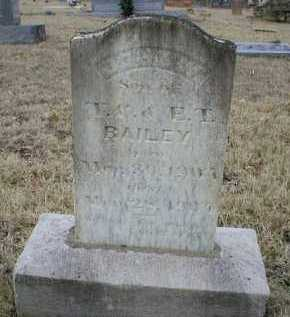 BAILEY, JOHN W - Logan County, Arkansas | JOHN W BAILEY - Arkansas Gravestone Photos