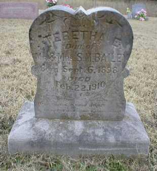 BAILEY, TERETHA E - Logan County, Arkansas   TERETHA E BAILEY - Arkansas Gravestone Photos