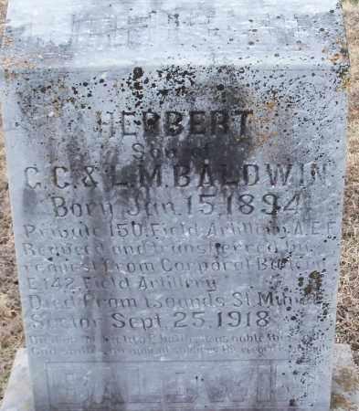 BALDWIN (VETERAN), HERBERT - Logan County, Arkansas | HERBERT BALDWIN (VETERAN) - Arkansas Gravestone Photos