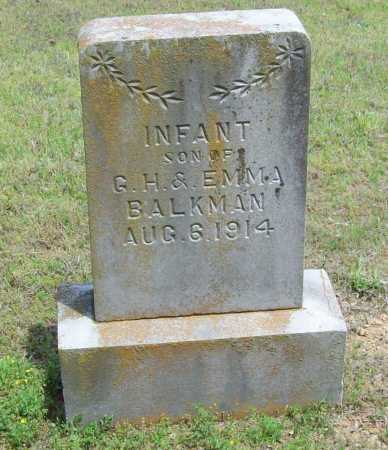 BALKMAN, INFANT SON - Logan County, Arkansas | INFANT SON BALKMAN - Arkansas Gravestone Photos