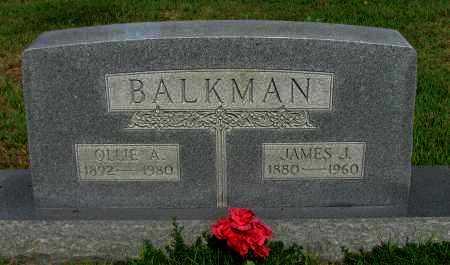 BALKMAN, OLLIE A - Logan County, Arkansas | OLLIE A BALKMAN - Arkansas Gravestone Photos