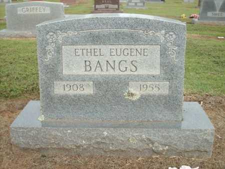 BANGS, ETHEL EUGENE - Logan County, Arkansas   ETHEL EUGENE BANGS - Arkansas Gravestone Photos