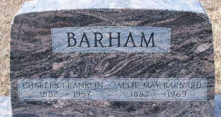 BARHAM, CHARLES FRANKLIN - Logan County, Arkansas | CHARLES FRANKLIN BARHAM - Arkansas Gravestone Photos
