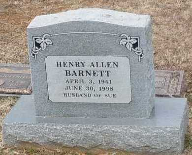 BARNETT, HENRY ALLEN - Logan County, Arkansas | HENRY ALLEN BARNETT - Arkansas Gravestone Photos