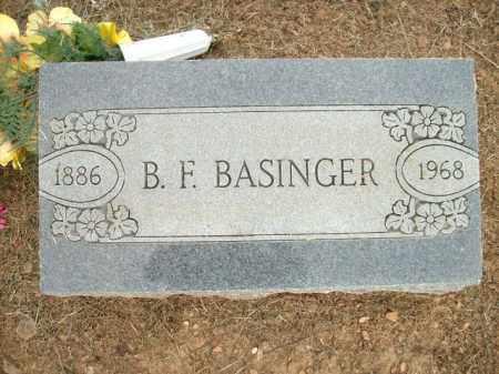 BASINGER, B.F. - Logan County, Arkansas   B.F. BASINGER - Arkansas Gravestone Photos