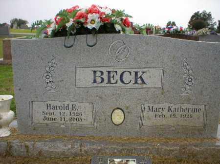 BECK  (VETERAN WWII), HAROLD E - Logan County, Arkansas   HAROLD E BECK  (VETERAN WWII) - Arkansas Gravestone Photos