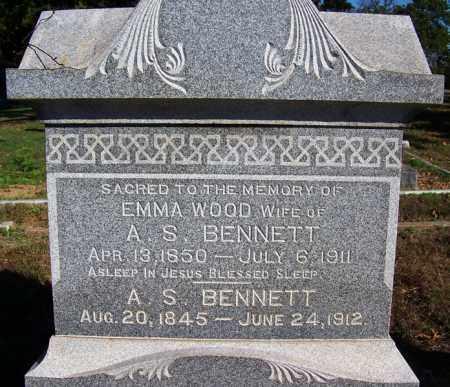 BENNETT, A S - Logan County, Arkansas | A S BENNETT - Arkansas Gravestone Photos
